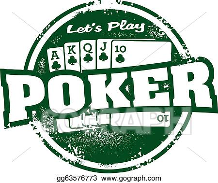 Clip Art Poker Tournament Stamp Stock Illustration