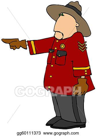 Stock Illustration - Police officer in red coat and hat. Clipart ...