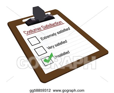 Clip Art Vector - Poor Customer Survey On A Clipboard. Stock Eps
