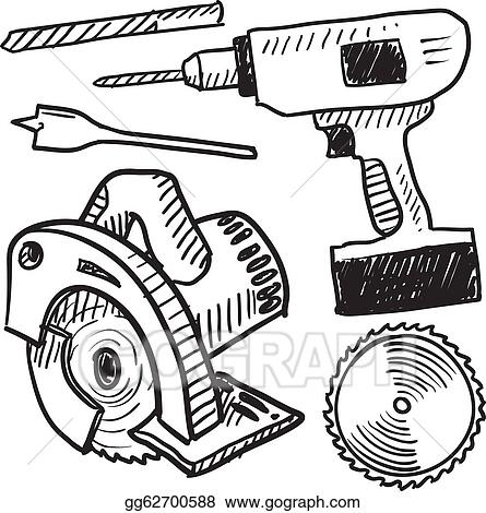 Vector Stock - Power tools sketch. Clipart Illustration gg62700588 ...