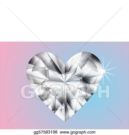 Precise white heart diamond