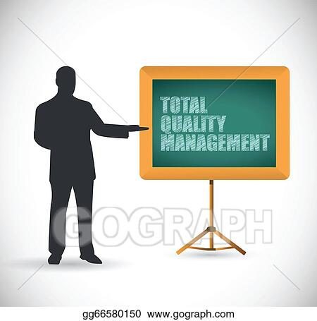 Clipart - Presentation total quality management illustration design    Quality Management Clipart
