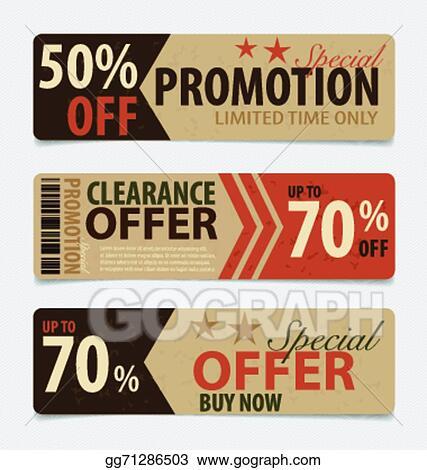 Vector Illustration Price tag sale coupon voucher vintage – Coupon Voucher Template