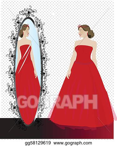 Drawings - Girl getting ready for Prom. Stock Illustration gg58129619
