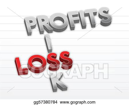 Profits risk and loss illustration 