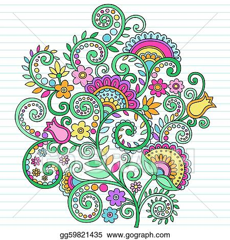 Easy Drawings Of Flowers And Vines Psychedelic Doodles Flowers  amp