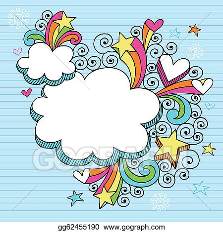 Stock Illustration - Psychedelic Groovy Cloud Frame. Stock Art ...