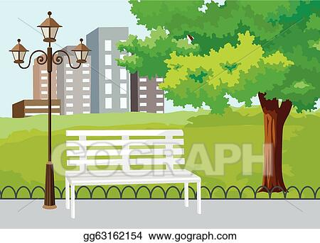 Vector Illustration Public Park In The City Vector Eps