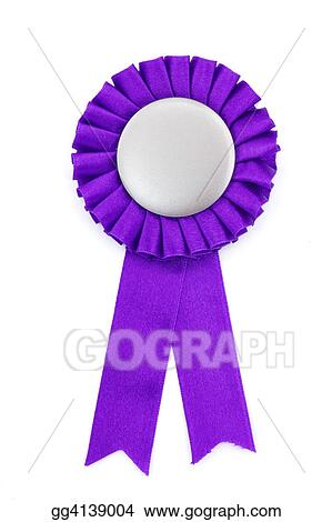 Drawing - Purple award ribbons badge. Clipart Drawing gg4139004 ...