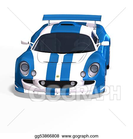 clip art racing and rallye car fantasy type with clipping path stock