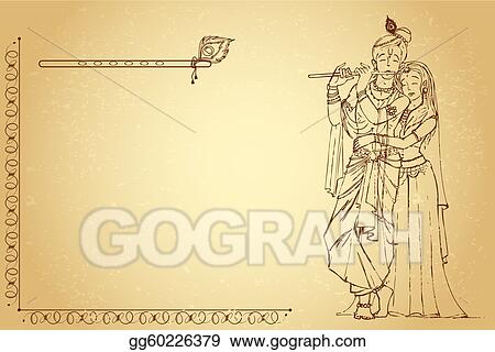Radha Krishna on Paper
