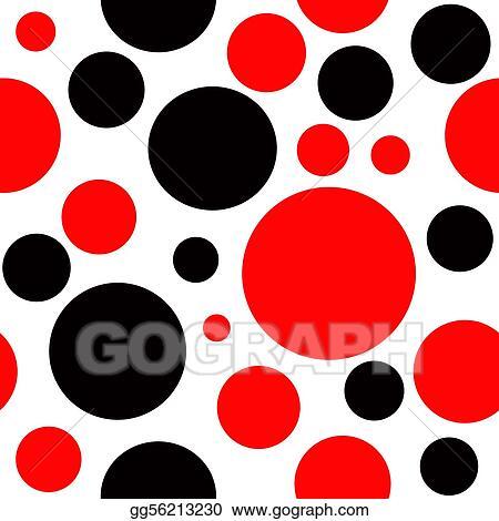 Stock Illustrations - Red and black polka dot seamless ...