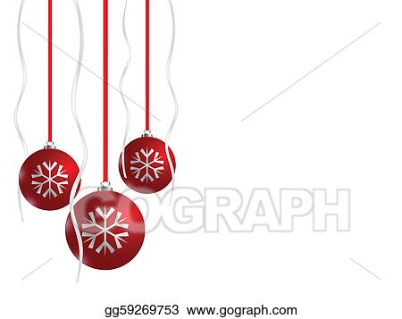 Red Christmas balls, eps8