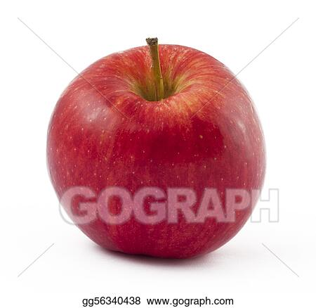 Red freshness apple on white background