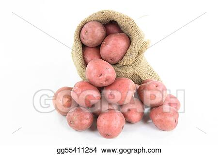 Red mini potatoes - horizontal orientation. 