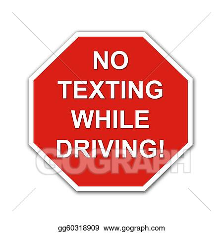 Red No texting While Driving sign