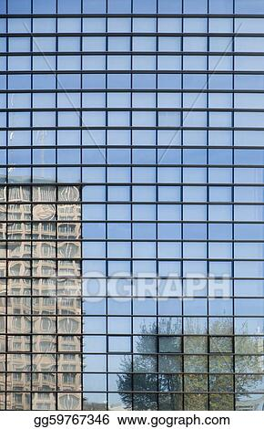 reflected office building