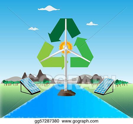 Renewable energy Water Energy Clipart