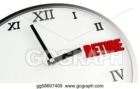 Stock Illustration Retirement Time Clipart Gg58607409