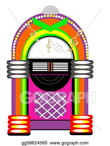 Free vector graphic jukebox music music player free image on - Clip Art Vector Retro Table Juke Box Stock Eps