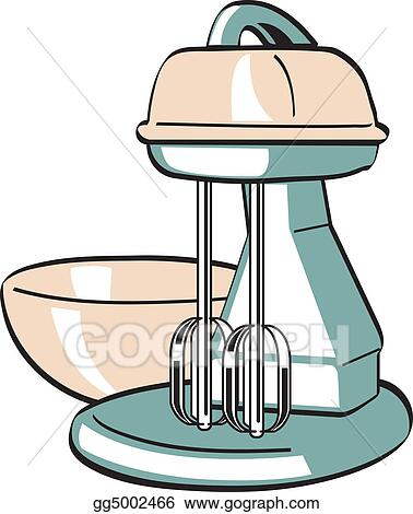 Vector Art - Retro vintage kitchen blender mixer. EPS clipart ...