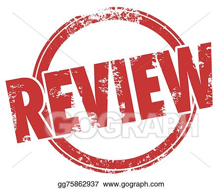 Stock Illustration - Review stamp word circle product evaluation ...
