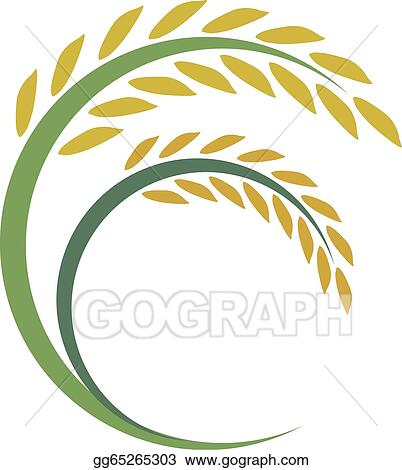 Clip Art Vector - Rice design on white background . Stock ...