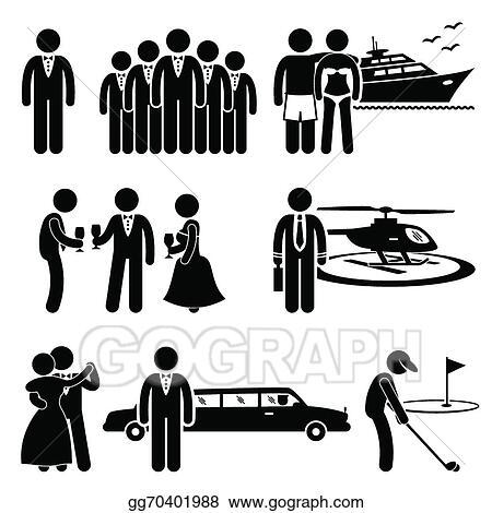 Vector Illustration - Rich man clipart. Stock Clip Art gg70401988 ...