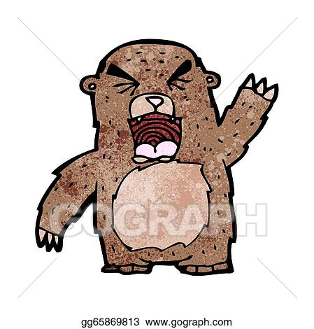 roaring bear cartoonRoaring Bear Clip Art