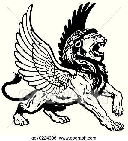 Winged lion tattoo - photo#52
