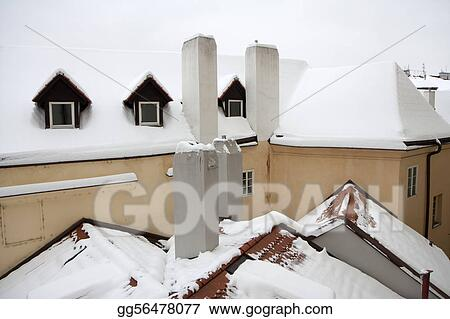 Rooftops in winter