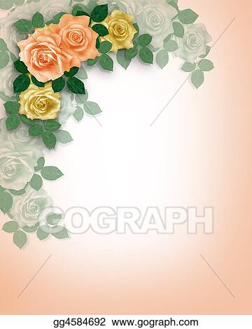 Roses Template Wedding Invitation
