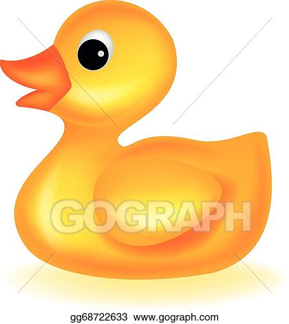 Rubber Duck Clip Art - Royalty Free - GoGraph