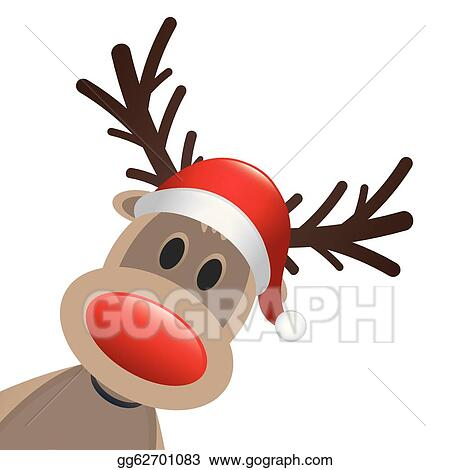 Clip Art Reindeer Clipart Free reindeer clip art royalty free gograph christmas deer vector rudolph red nose and hat