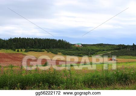Rural New Brunswick farmland