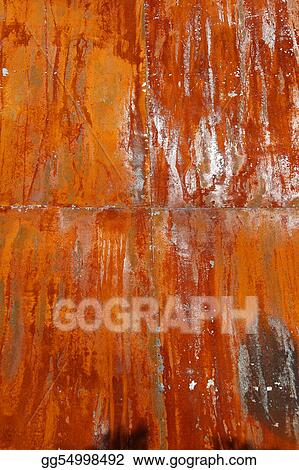 Rusty steel plates after a couple of years in outskirt area