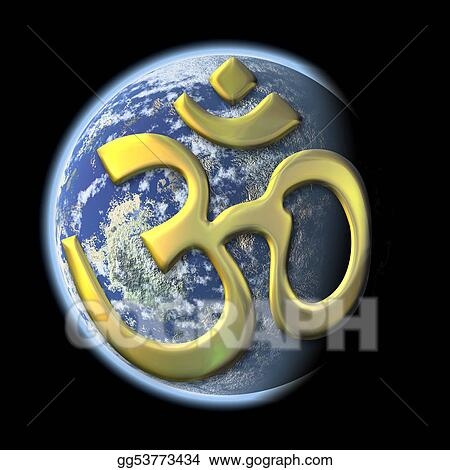 sacred syllable Aum on Earth
