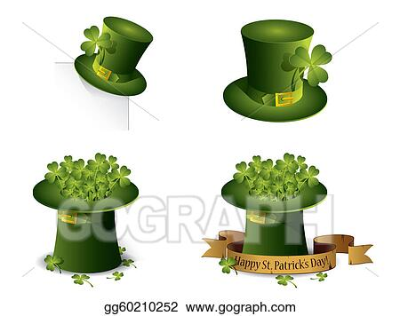 Saint Patrick's Day symbols vector