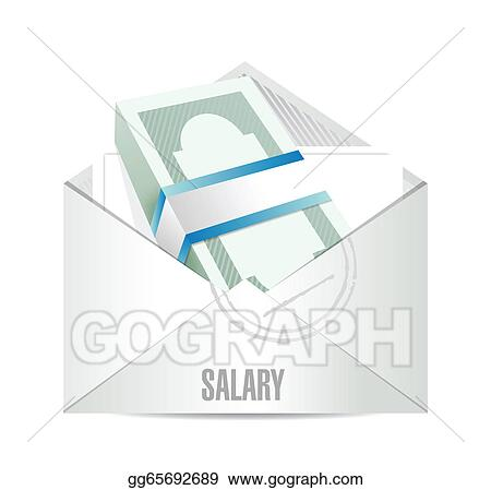 salary envelope illustration design