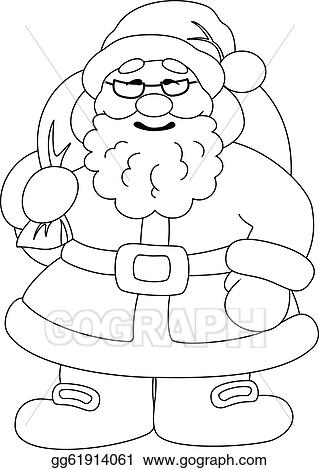 Santa Claus Cartoon Black And White Images & Pictures - Becuo