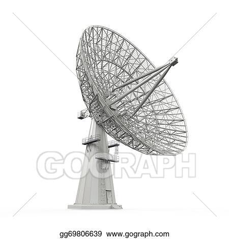 Stock Illustration - Satellite dish antenna. Clipart Illustrations ...