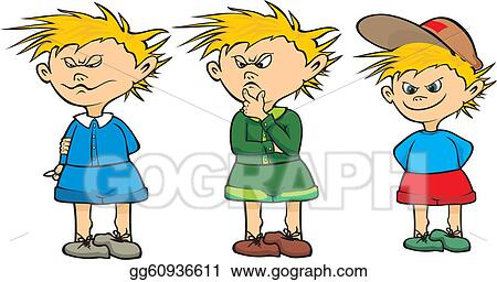 Vector Art - Schoolboy - student thinking. Clipart Drawing ...