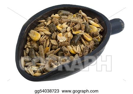 scoop of horse feed mix