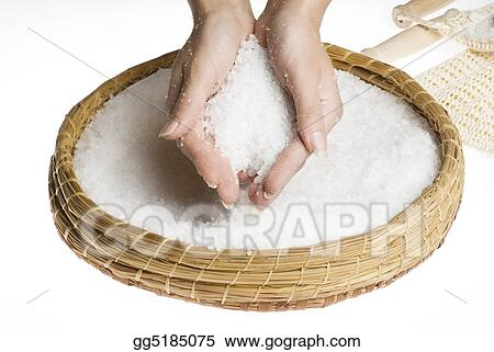 scrub hands with salt