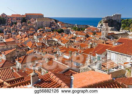Sea of Red Rooftops in Dubrovnik, Croatia