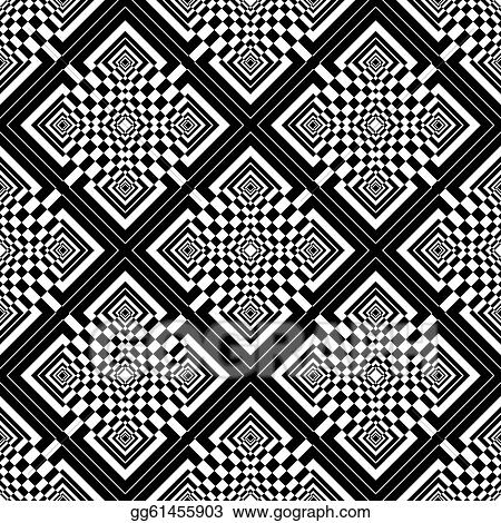 Seamless checked op art pattern.