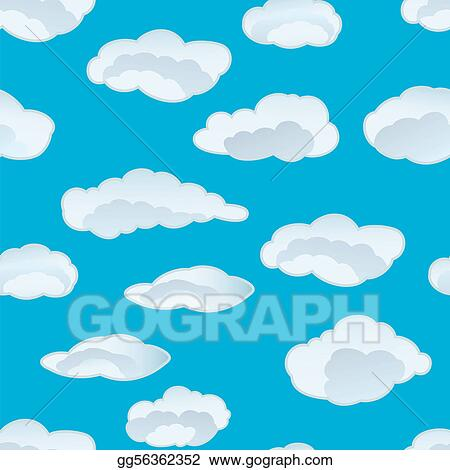 Vector Art - Seamless cloud background. Clipart Drawing gg56362352 ...