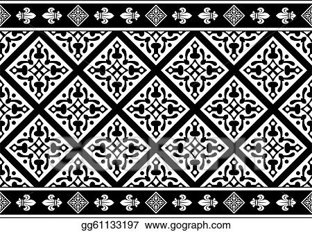 Seamless gothic floral patternGothic Floral Pattern