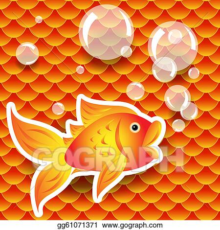 Vector stock seamless small goldfish or koi fish scale for Koi fish scales