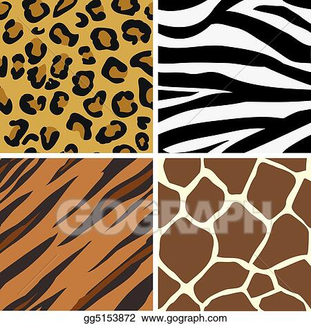 Seamless tiling animal print patterns